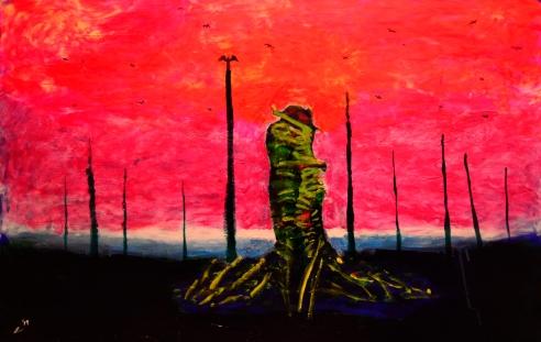 Lost Highway, acrylic, 24'' x 36