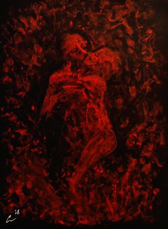 Hold, acrylic, 20'' x 16''