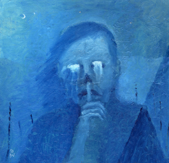 Hush, oil, 18'' x 18''