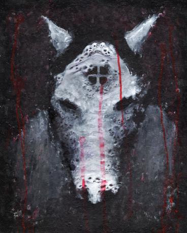 A Pale Horse, mixed media, 4548 x 5687