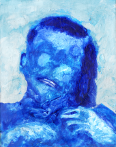 XXI, acrylic, 14'' x 11''