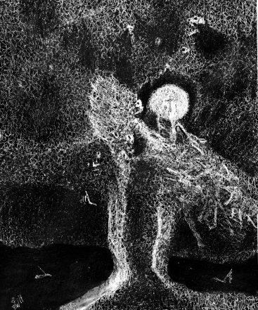 Pagan, ink, 17'' x 14''