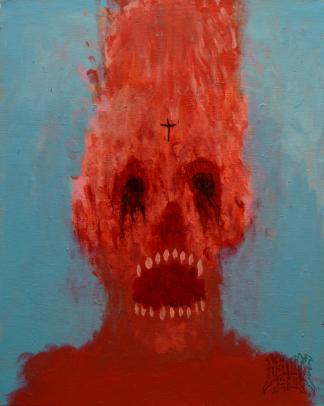 RABID912, acrylic, 20'' x 16''